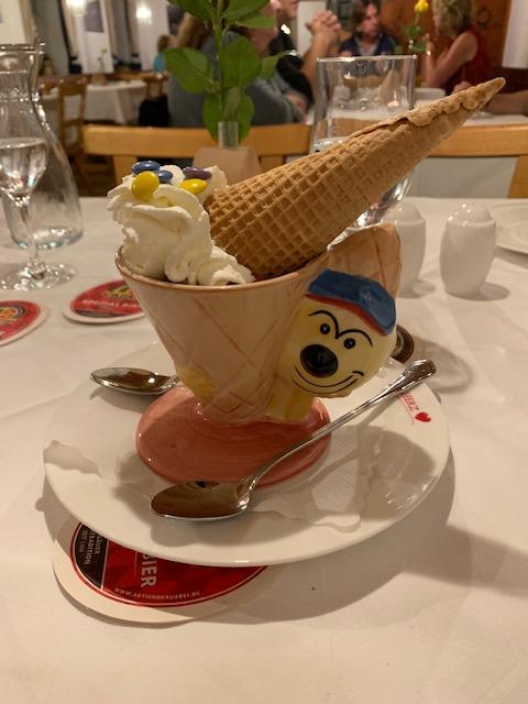 ice cream cone, clown bowl