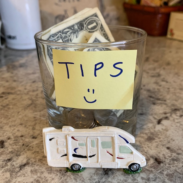 tip jar with RV magnet