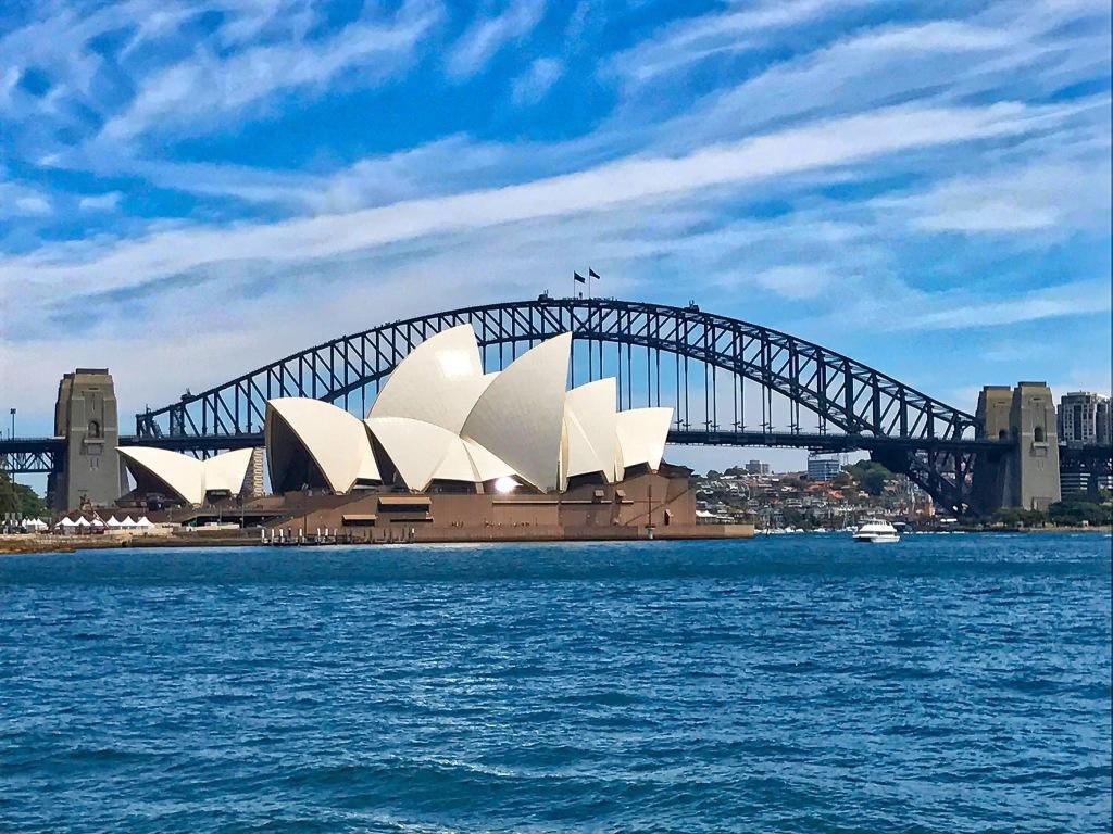 Sydney Opera House; Sydney Harbor Bridge; Australia